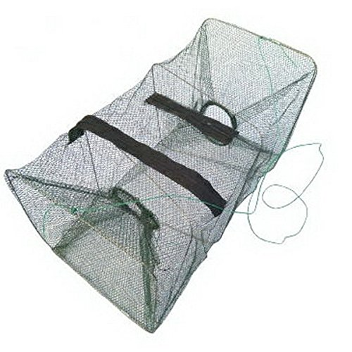 Collapsible Crab Traps (ASDOMO Foldable Fishing Net Trap and Dip Drift Shrimp Net Cage Crab Trap Crawfish Lobster Shrimp Collapsible Cast Net (green 1pcs))