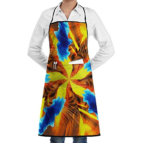 Tiger Blue Gold Sewing Aprons With Pocket Kits Adjustable Home Kitchen -