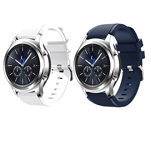 Gear S3 Frontier Band,SENTER 2(Pack) Soft Silicone Sport Replacement Band for Samsung Gear S3 Frontier(NOT FIT S2 & S2 Classic & Fit2)