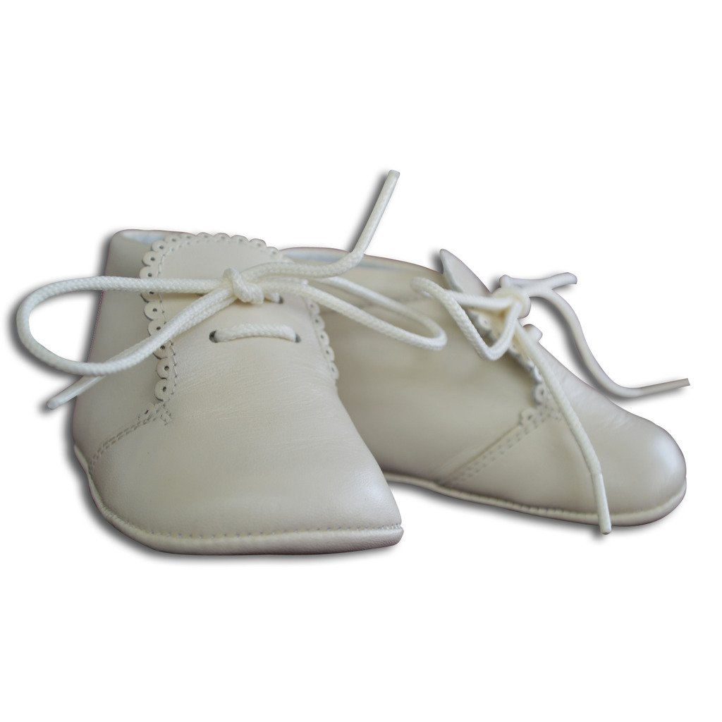 Carriage Boutique Baby Boys Leather Soft Sole Shoes w//Laces Leather
