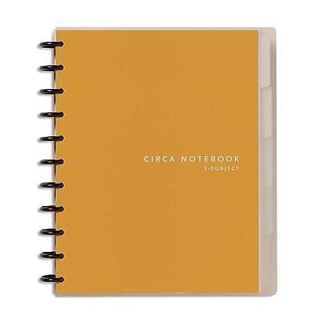 amazon com levenger circa 5 subject 1 4 inch ruled notebook