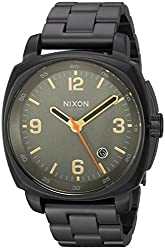 Nixon Men's 'Charger' Quartz Metal and Stainless Steel Watch, Color:Black (Model: A10721032-00)