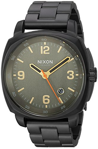 Nixon Men's 'Charger' Quartz Metal and Stainless Steel Watch, Color:Black (Model: A10721032-00) ()