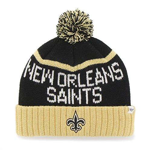 ('47 New Orleans Saints Brand NFL Linesman Cuffed Knit Hat)