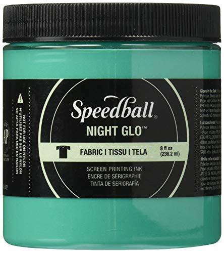 - Speedball Art Products Night Glow Fabric Screen Printing Ink, 8oz, Green