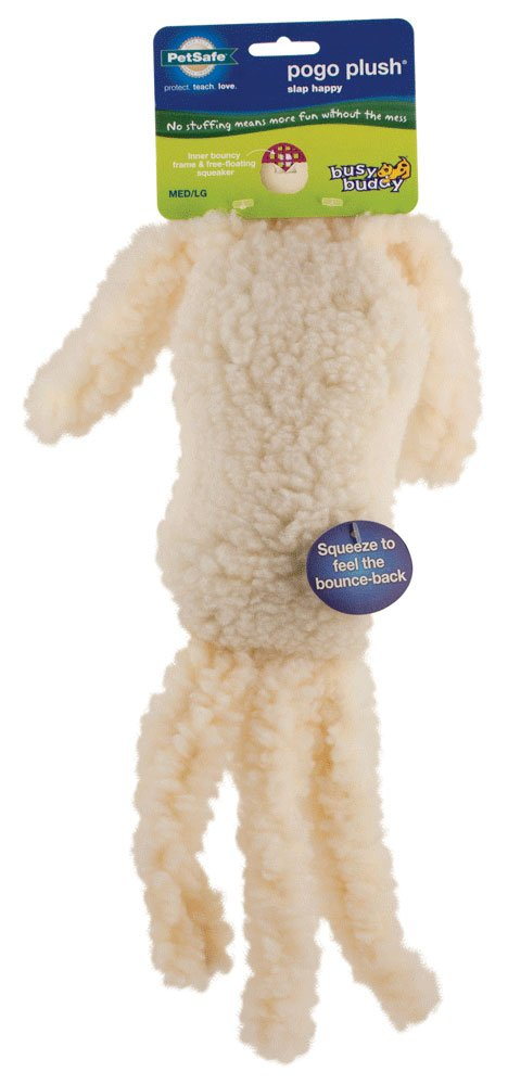 PetSafe Pogo Plush Toys - Durable Squeaker Dog Toy Without Stuffing