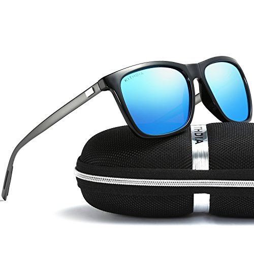 KITHDIA Mode Unisex Retro Aluminium Sonnenbrille Männer Polarisierte Linse Marke Designer YiA953C