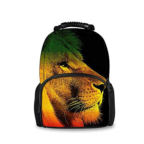OKAYDECOR Lion Jamaica Reggae Printed Felt Backpacks Children School ()