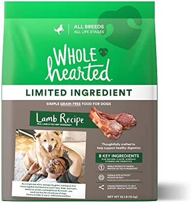 WholeHearted Grain Free Limited Ingredient Lamb Recipe Dry Dog Food for All Life Stages and Breeds