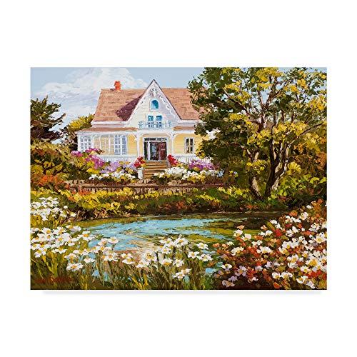 Trademark Fine Art Overlooking The Pond by Erin Dertner, 18x24-Inch ()