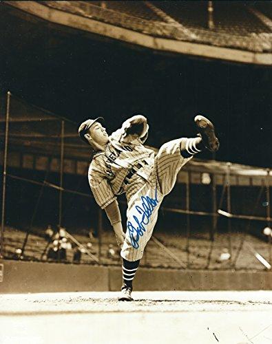 Autographed Hof'r Bob Feller 8x10 Cleveland Indians Photo
