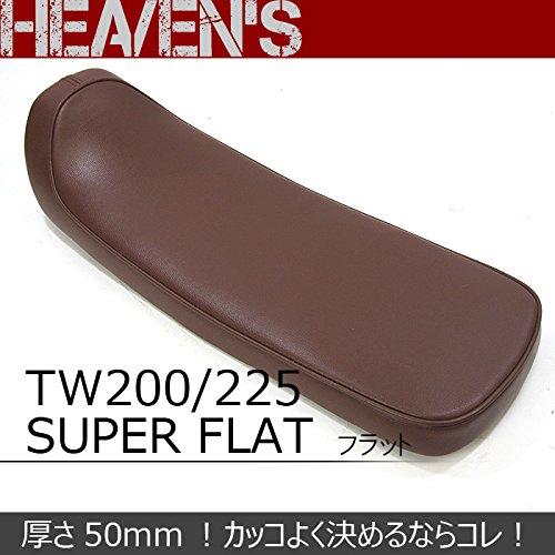 【ヘブンズ】YAMAHA TW200/225 シートスーパーフラット フラット ブラウンクラッシックシート フラ   B00IN1A91S
