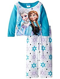 Disney Little Girls'Anna and Elsa Costume Knit 2 Piece Pajamas