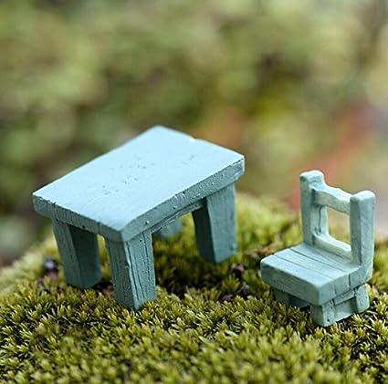 Mini Desk Chair Figures Miniature Decoration For Mini Fairy Garden Aquarium Fish Tank Animal Statue Resin Craft Home & Garden