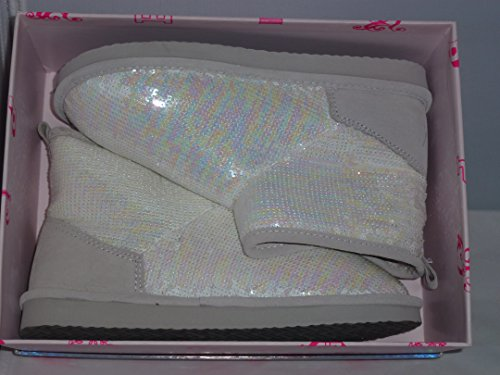 Fur Ivory Mukluks Victoria's Secret Bootie with 7 Sequins Lined Sequins Bling 8 Studs Boots Pink M Shoes qZTHnZxEX