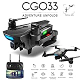 ACHICOO CG033 BRU-SHless FPV Quadcopter with 4K HD WiFi Gimbal Camera RC Helicopter Foldable Drone GPS Drone Kids Gift vs SG906 F11 Zen k1 3 Battery