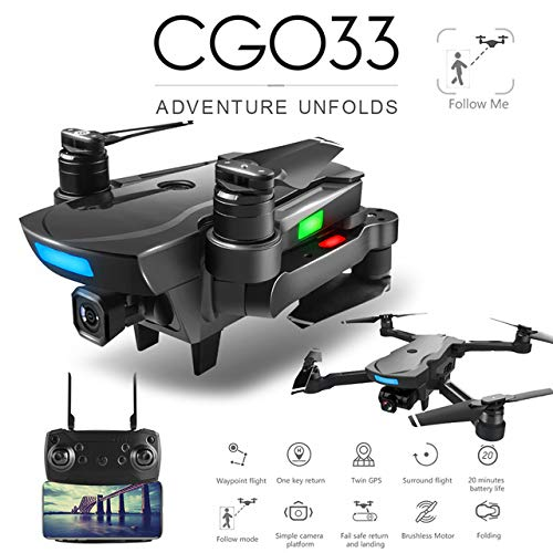 LanLan Drone CG033 sin escobillas FPV Quadcopter con 1080P HD WiFi ...