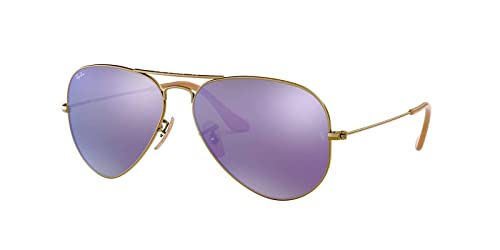 Amazon.com: Ray-Ban Aviator grande de metal anteojos de sol ...
