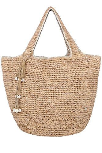 Florabella Tahoe Raffia Tote Beach Bag Almond (Bella Bag)