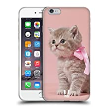 Head Case Designs Kitten With Pink Bow Cats Soft Gel Case for Apple iPhone 4 / 4S