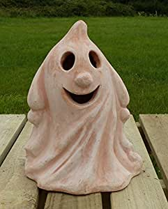 pot tsar 'Ghouly' terracota Halloween farol. 22cm de alto