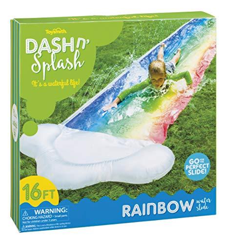 Toysmith Dash 'N Splash Rainbow Inflatable Outdoor Water Slide