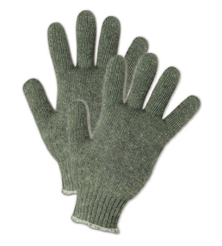 - Magid G168C Grayt Shadow Gray Heavyweight Cotton/Polyester Glove with Knit Wrist Cuff, Work, 8-1/2