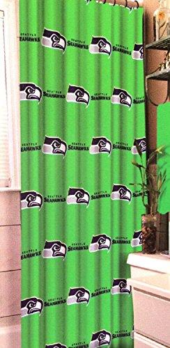 Seattle Seahawks NFL Football Team Fabric Shower Curtain