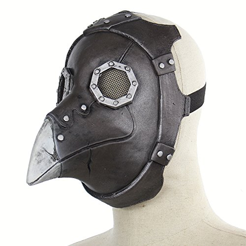 Hophen Steampunk Plague Beak Doctor's Mask Gothic Retro Bird Head Mask Scary Cosplay Halloween Props Funny Latex Masks for Masquerade Parties,Carnival Decorations for $<!--$17.99-->