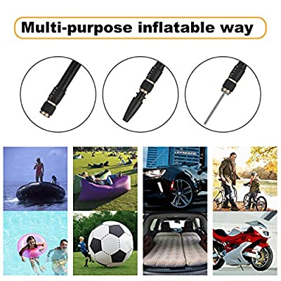 Portable Air Compressor Tire Inflator, 12V 150 PSI Digital Cordless Car Tire Pump, Electric Auto Air Pump with Digital Pressure Gauge, 2200mAh Rechargeable Li-ion Battery, Car Power Cord: Automotive