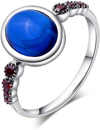 Frau 925 Silber Ring Saphir Zeigefinger Ring, Paar