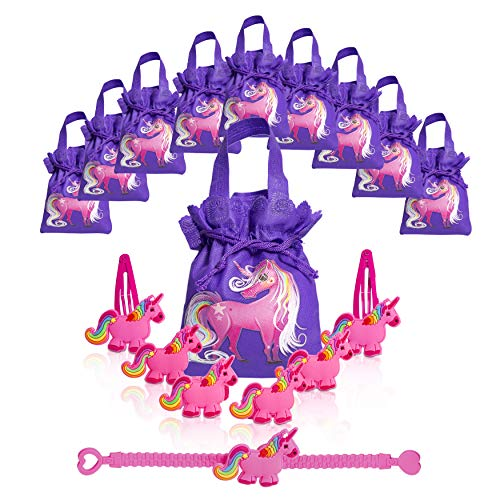 Unicorn Party Supplies (80 Pieces) - Unicorn Party Favors and Gift Bags | Magical & Adorable Goodie Bags with Fun Toy Jewelry for Girls Birthdays | Add Your Own Candy & Treats