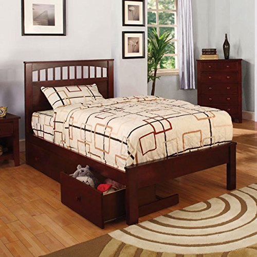24/7 Shop at Home 247SHOPATHOME IDF-7904CH-T Youth Bed, Twin, Cherry