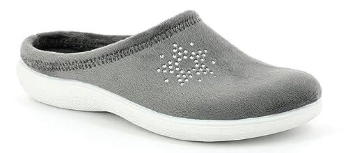 INBLU Pantofole Ciabatte Invernali da Donna Art. BS-31 Antracite Nuovo (35) e934b3d9fb3