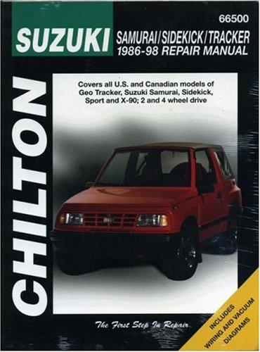 Suzuki Samurai, Sidekick, and Tracker, 1986-98 (Chilton Total Car Care Series Manuals) - Suzuki Sidekick Repair Manual