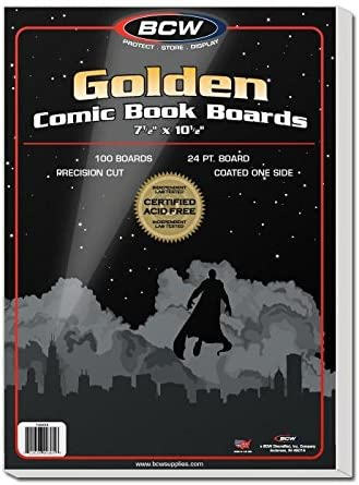BCW 100 Silver Comic Backing Boards