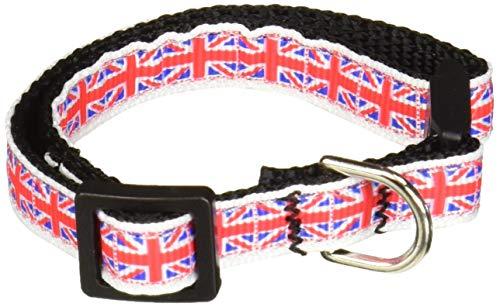 Mirage Pet Products Tiled Union Jack UK Flag Nylon Ribbon Collar for Cat