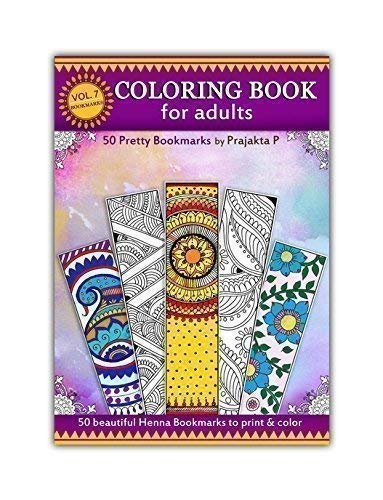 Bookmarks coloring - Adult Coloring book Volume 07, 50 Pretty Bookmarks To Color, DIY Bookmarks]()
