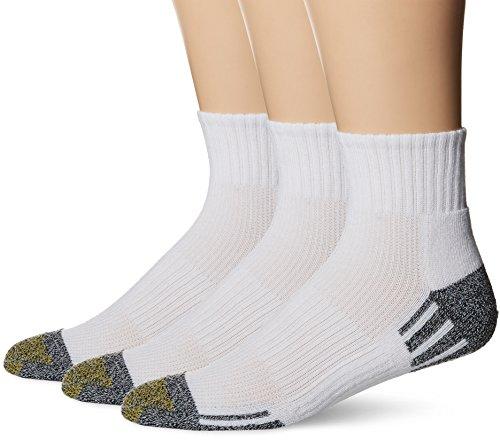 Gold Toe Mens Outlast Quarter Socks, 3-Pack