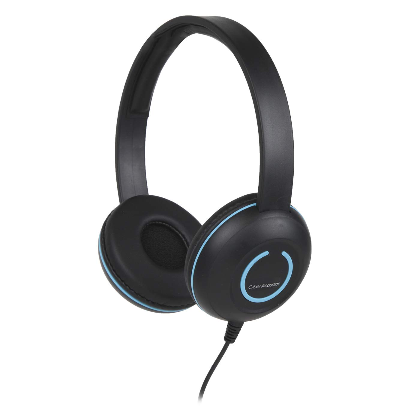 Cyber Acoustics Lightweight On-Ear Headphones/Headset with noise canceling microphone and in-line Volume/Play/Pause controls and 3.5mm plug. Great for use with cell phones,tablets and laptops (AC5010)