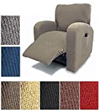 Orly's Dream Pique Stretch Fit Furniture Chair Recliner Lazy Boy Cover Slipcover (Grey/Gray)