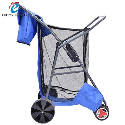 us-shipping-deluxe-collapsible-folding-wagon-cart-garden-buggy-shopping-beach-wonder-tote-cart-foldi