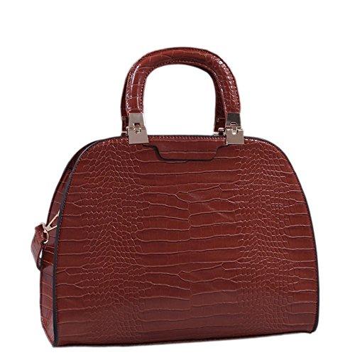 (mkii) Dylan Dome Satchel Handbag (brown) 62022