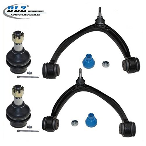 DLZ 4 Pcs Suspension Kit-Upper Control Arm Assembly Lower Ball Joint Compatible with 2007-2015 Chevrolet Silverado GMC Sierra 1500 2007-2010 Chevrolet Suburban 1500 2007-2010 Chevrolet Tahoe K80669 -