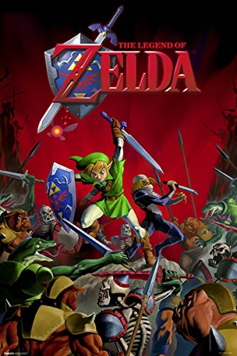 Zelda - Battle Link & Sheik 24x36 Poster Game Art Print