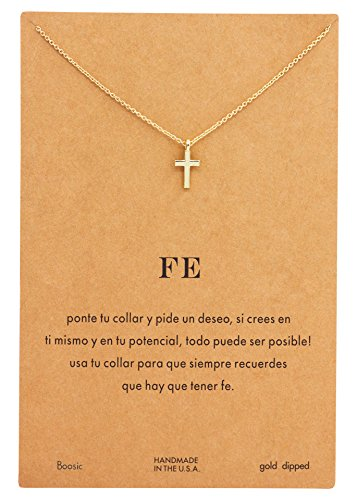 Boosic Necklace Anchor Cross Pendant