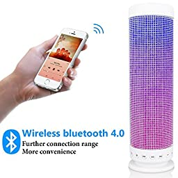 InaRock 10 Watt Wirless Portable Bluetooth 4.0 DSP Speaker Dazzle LED Light Powerful Sound Dream Speaker in Fantasy Colors with Build in Microphone