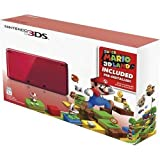 Nintendo 3DS Holiday Bundle - Flame Red with Super Mario 3D Land Pre-Installed