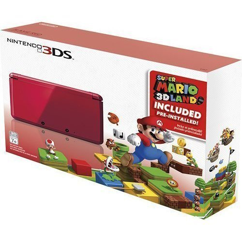 Nintendo 3DS Holiday Bundle – Flame Red with Super Mario 3D Land Pre-Installed image