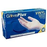 AMMEX GlovePlus Vinyl Disposable Powder Free Gloves